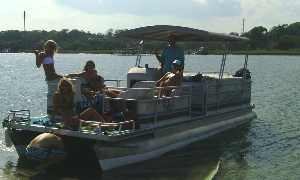 Rent 26' Pontoon Boat In Wrightsville Beach, North Carolina