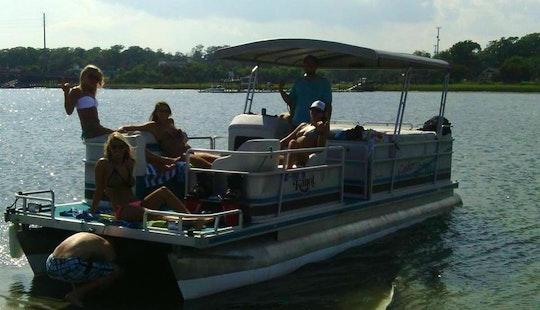 Rent 26' Pontoon Boat In Wrightsville Beach, North Carolina