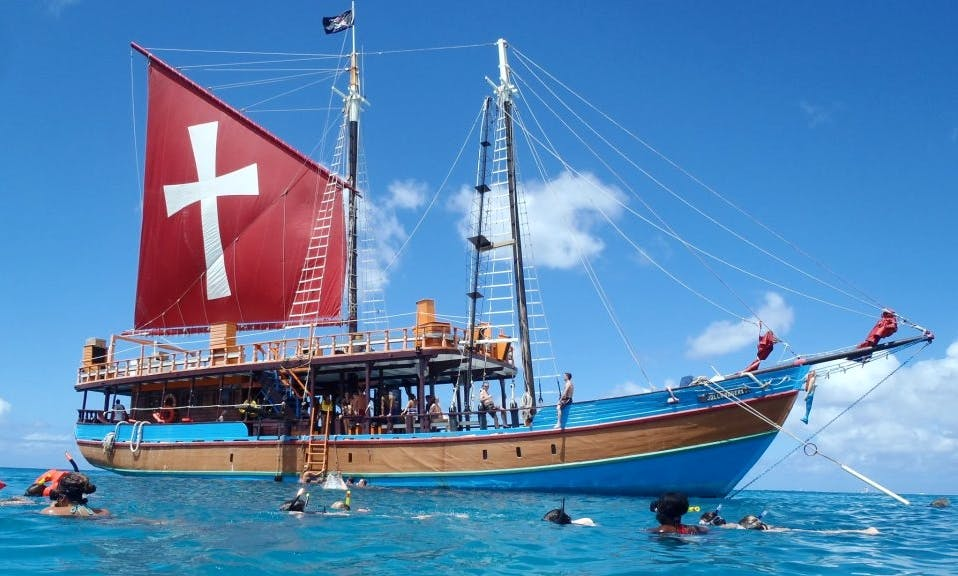 """Lunch Cruises on """"The Jolly Roger 1"""" Sailboat in Barbados"""