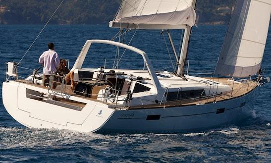 Charter The 2018 Beneteau Oceanis 41.1 Sailing Yacht In Barcelona, Spain