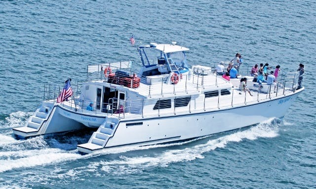 "63ft ""Bay Spirit"" Cooper Motor Catamaran Charter in Barnstable, Massachusetts"