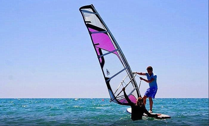 Windsurfing in Cyprus