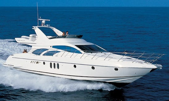 Enjoy Cruising On This Lucury 62' Azimut Motor Yacht Rental In Kyllini