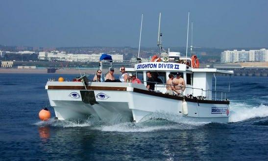 33' Catamaran Diver Charters In Brighton