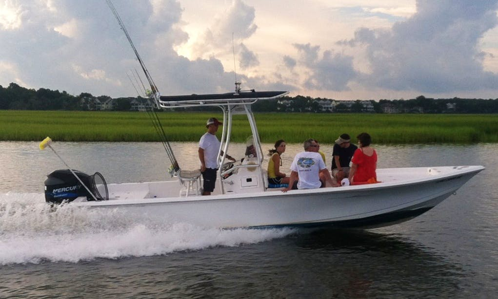 "Rent 24ft ""Drum Runner"" Sea Pro Bay Boat In Johns Island, South Carolina"