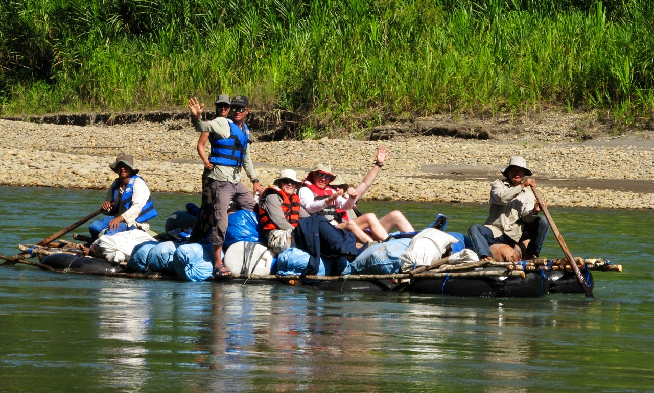 Guided Rafting Trip the Rio Tuichi on the Madidi National Park in La Paz