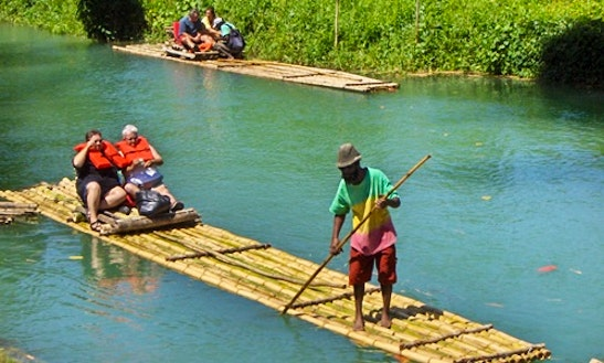 Martha Brae Bamboo Rafting In Jamaica
