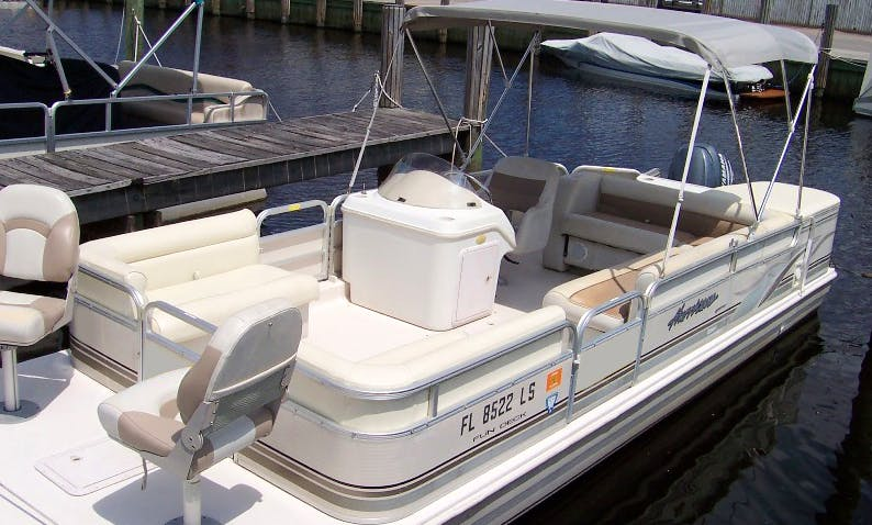 "Scallop Charter On 24ft ""Bella Donna"" Pontoon In Crystal River, Florida"