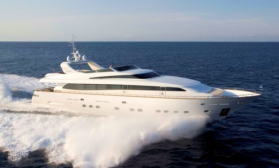 Canados 110 Luxury Yacht Rental In France