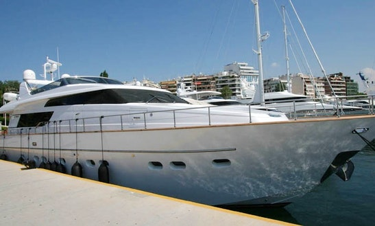 Power Mega Yacht In Pireas
