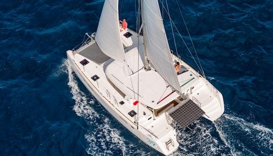 Charter 39' Lagoon Catamaran Yacht In Greece