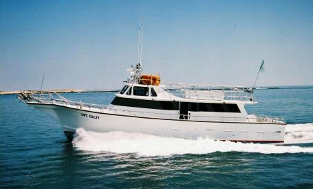 Fishing charter on captain collet yacht in atlantic city for Deep sea fishing atlantic city