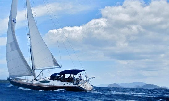 54' Sailing Yacht Charter For 4 Person In St Thomas, U.s. Virgin Islands