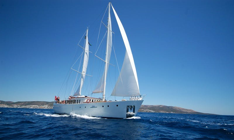 """Charter the 75ft """"Rosa"""" Sailing Gulet from Bar, Montenegro"""