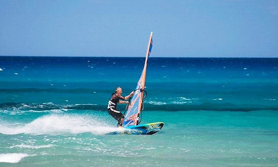 Windsurfing Courses And Rental In Santa Lucia. Beginners And Advanced