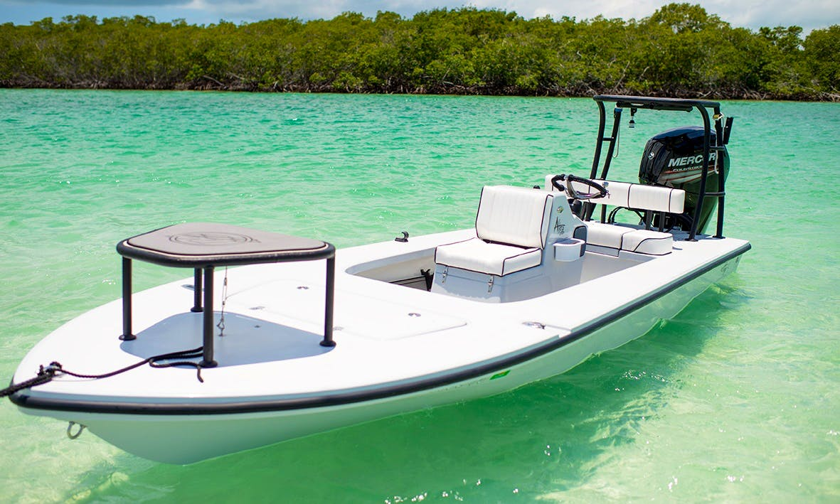 "Captained Fishing Charter on 19ft ""Excalibur"" Skiff in Key Largo, Florida"