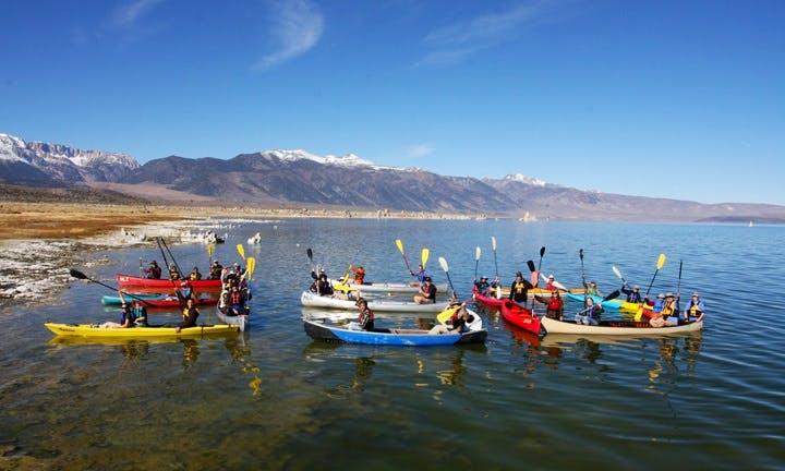 Guided Kayak Tour In Mono Lake's Shoreline