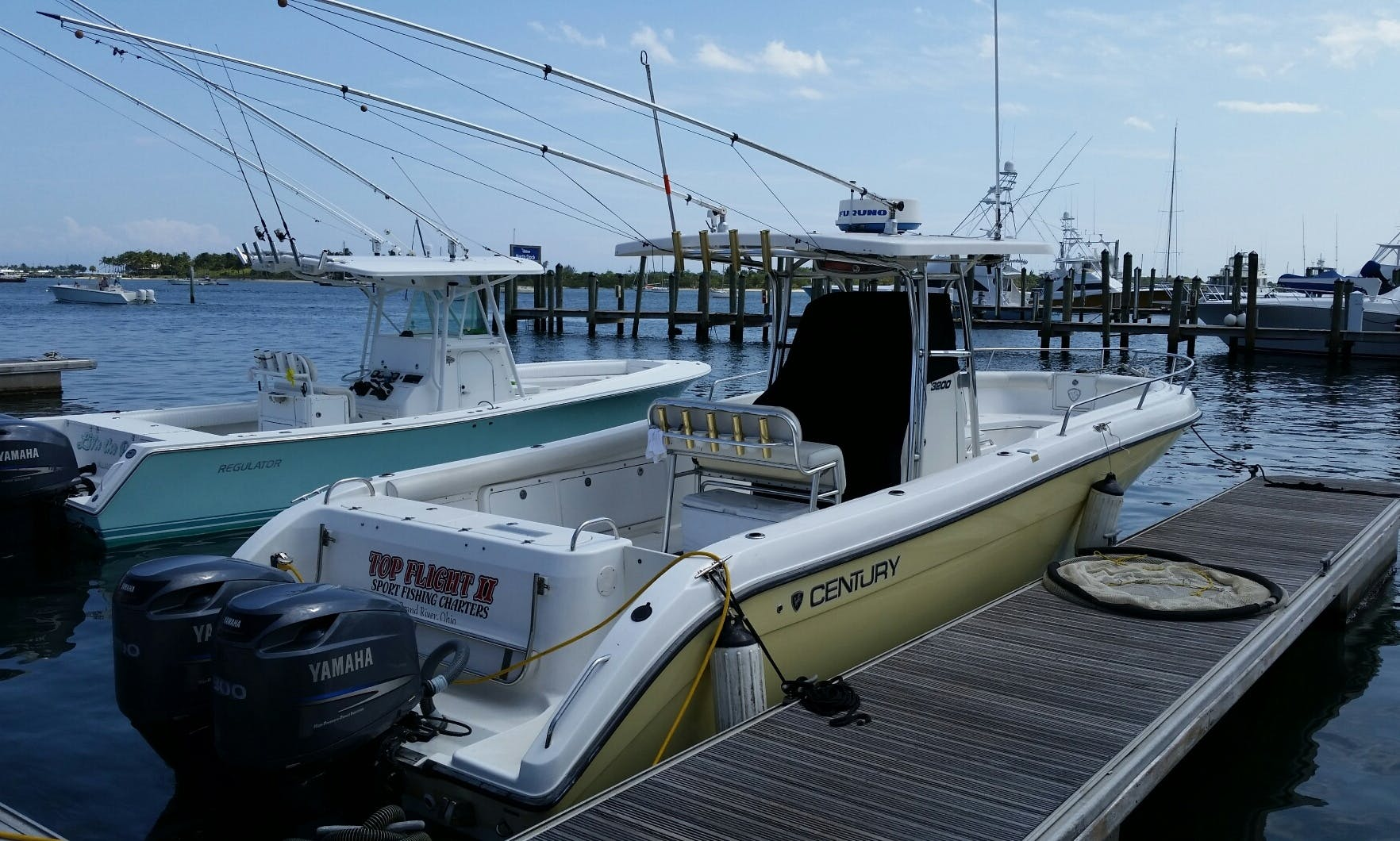 Offshore and Nearshore Fishing Charters on 32' Century Center Console with Captain Dave