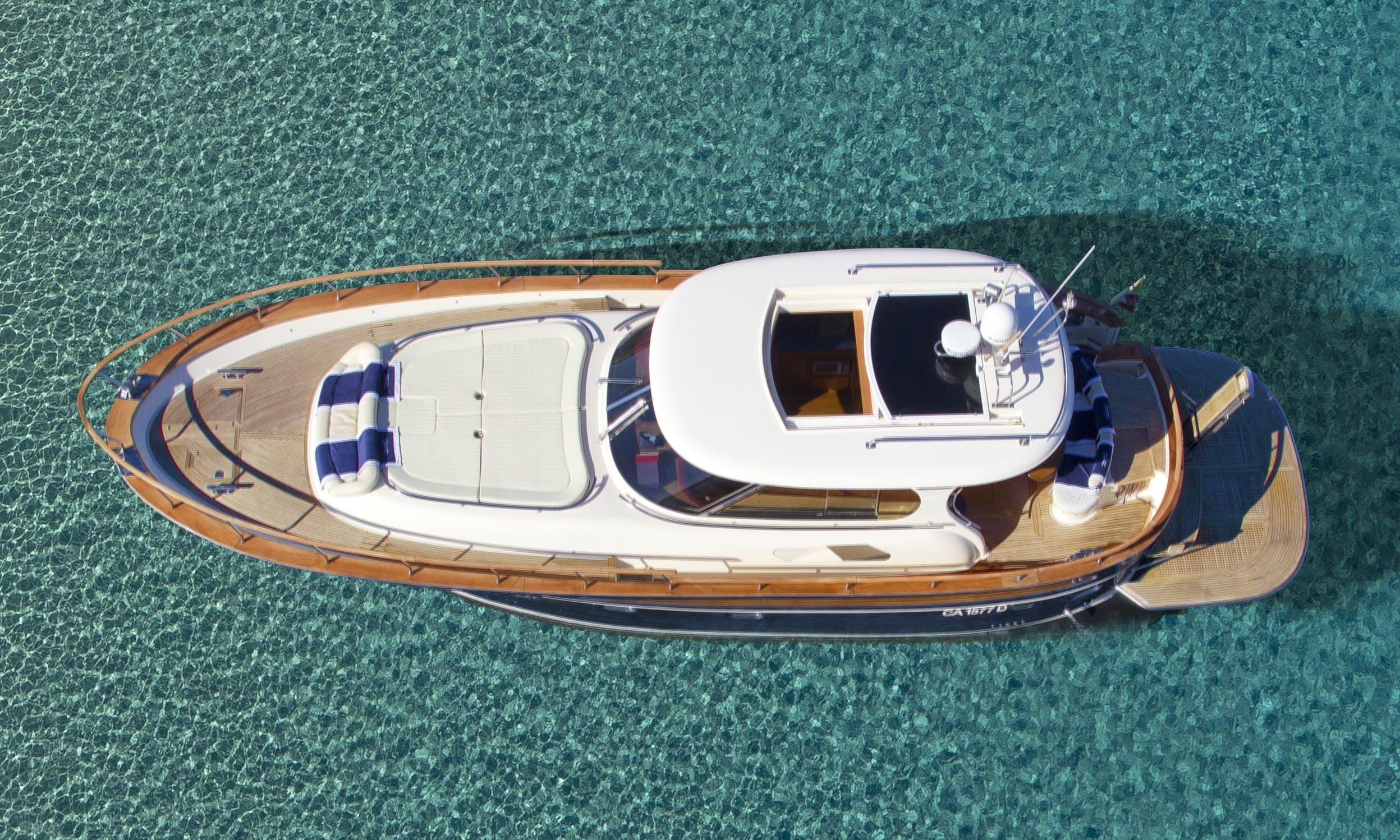 Charming, Classic Motor Yacht Rental in Villasimius, Sardinia