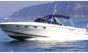 "Cruise on this ""Tornado 38"" rental in Ischia, Italy"