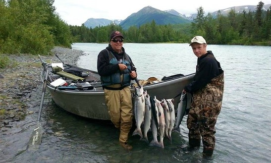 Guided Drift Boat Fishing Trip For 2 Person On The Famous Kenai River With George