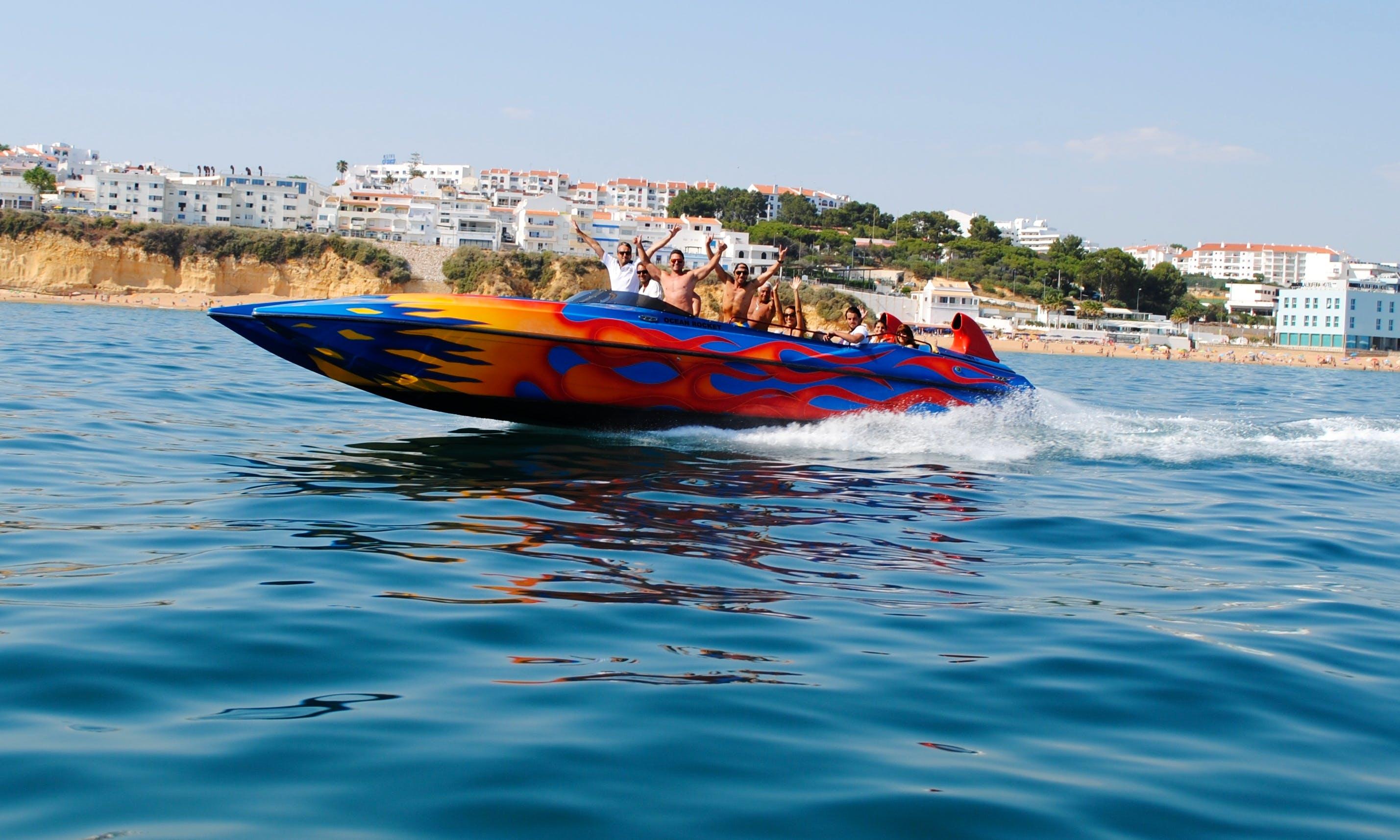 Charter a 36' Ocean Rocket Passenger Boat for 12 People in Albufeira, Faro