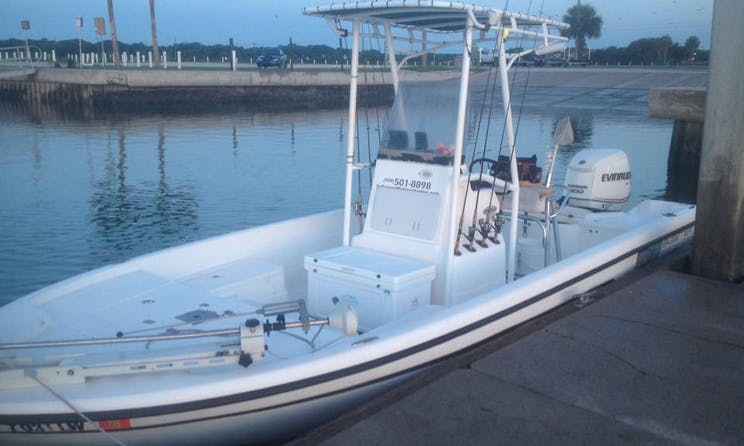 22ft Center Console Boat Fishing Charter in St Augustine, Florida