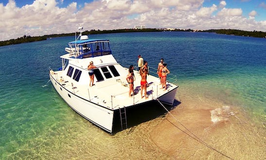 45' Big Power Catamaran Charter In Miami, Florida