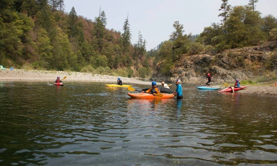 Otter Bar Lodge Kayak School on the Salmon River