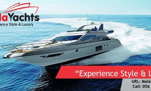 Motor Yacht Rental in Dubai for 8 passengers with a captain