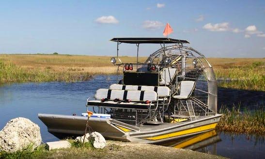 Enjoy 20' Airboat Tours In Miami