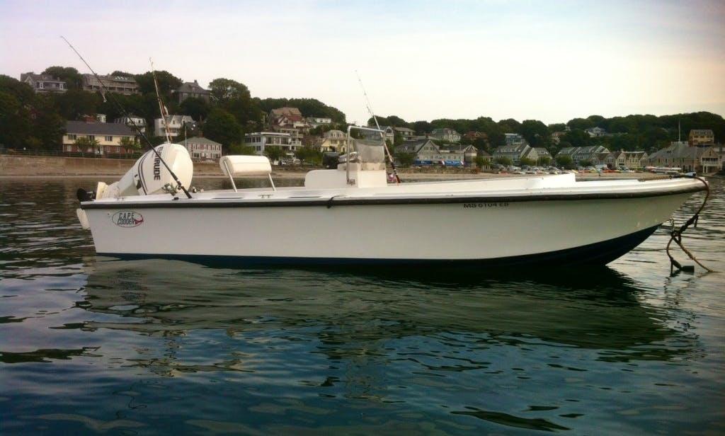 19ft Cape Codder Center Console Boat Charter in Dennis, Massachusetts