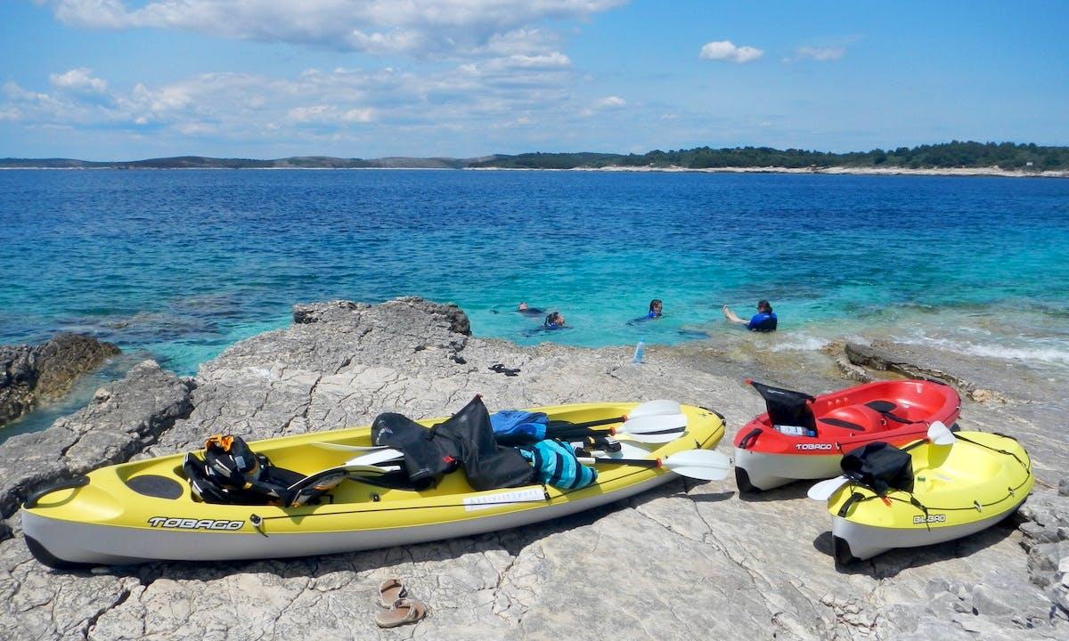 Half day kayaking in Premantura, Cape Kamenjak