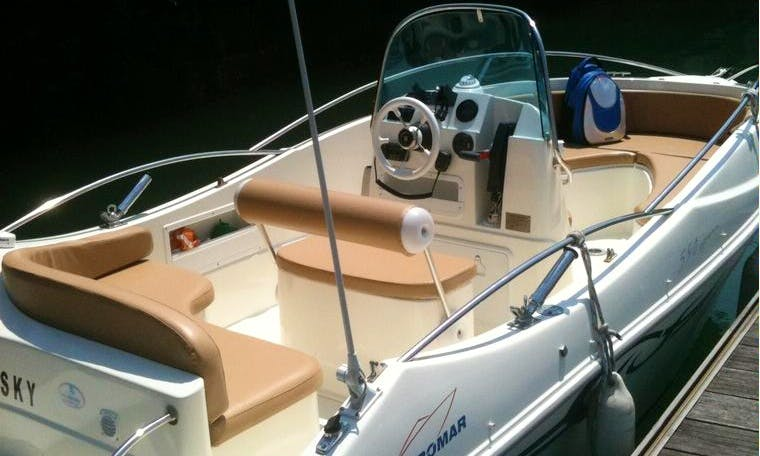 19ft Astromar 590 Cuddy Cabin/Walk Around Rental in Tarragona, Spain