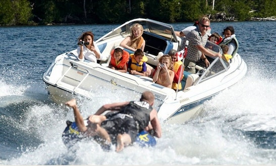 16' Power Boat Rental On Kashwakamak Lake In Canada