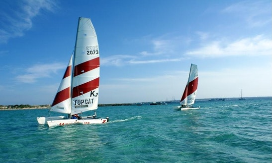 Beach Catamaran For Rent In Es Pujols