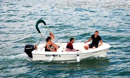 Rent 13' Quicksilver Motor Boat In L'Ampolla