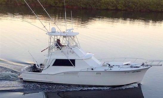 Ruskin Fishing Charter On 45' Hatteras Yacht