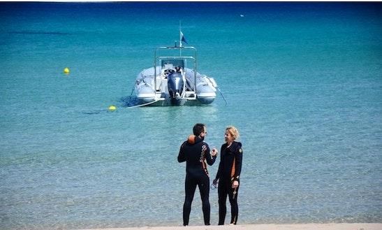Scuba Divers Boat In Calvi