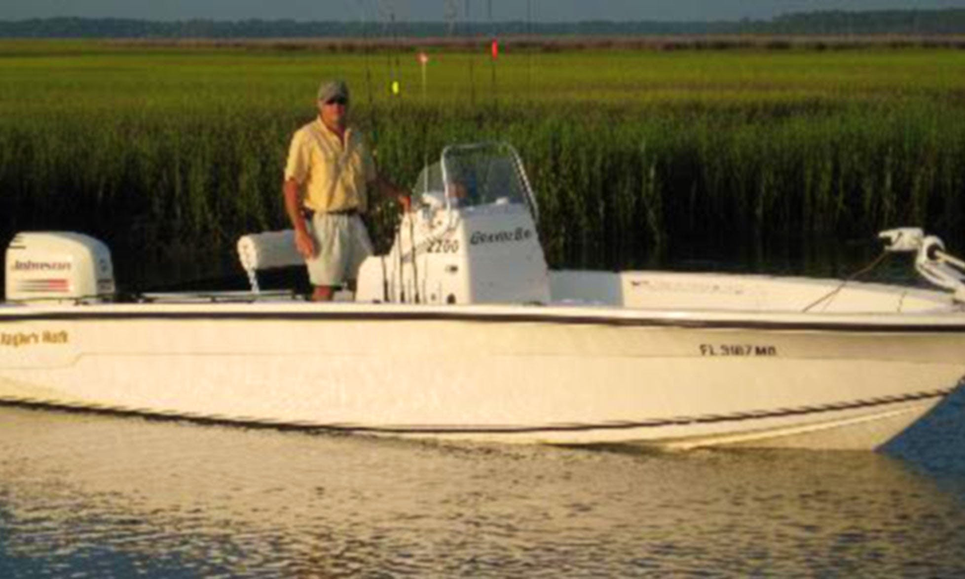 """Guided Fishing Trips on the 22ft """"Anglers Mark"""" in Florida"""