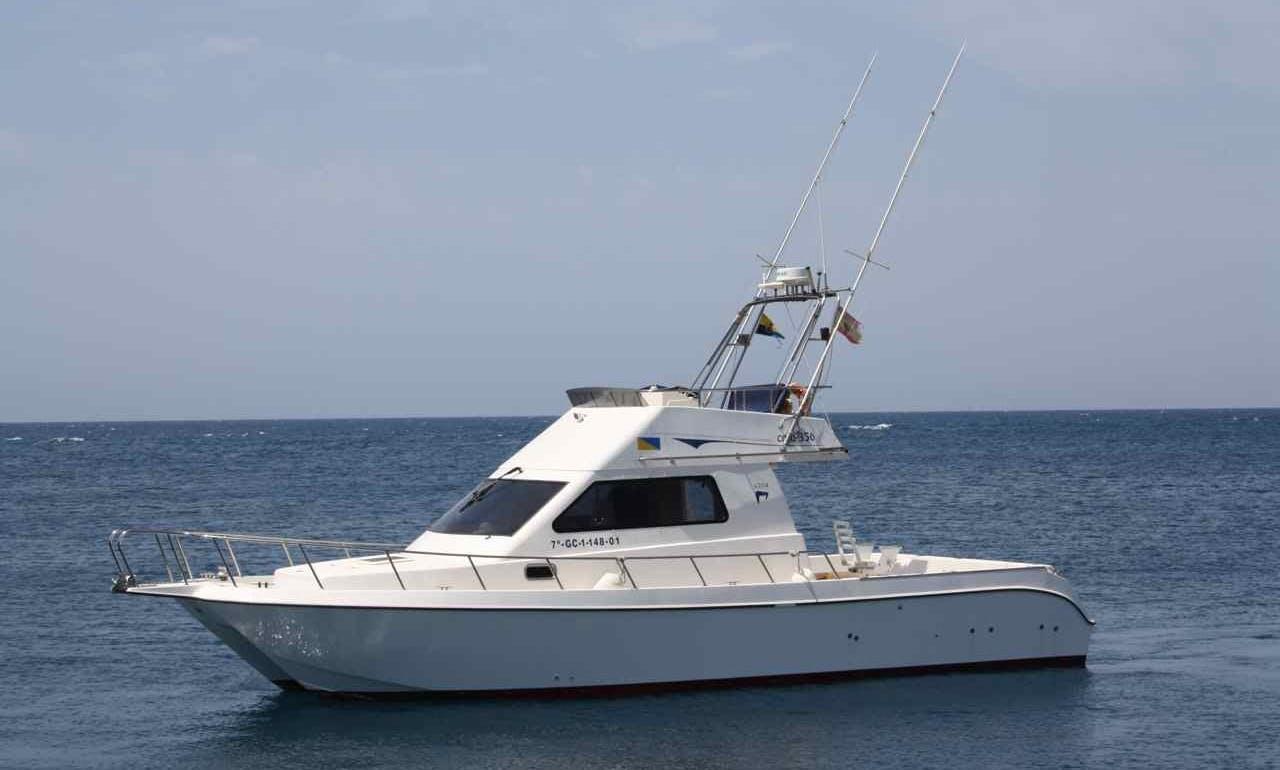 35ft Sport Fisherman Charter in Pasito Blanco, Spain