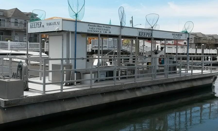 Pontoon Fishing Charter in Margate City, New Jersey