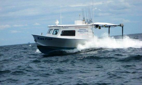 Fishing Charter On 40' Custom Boat In Venice, Louisiana