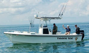 """25ft """"Tigger Too"""" Center Console Boat Fishing Charter in Sandwich, Massachusetts"""