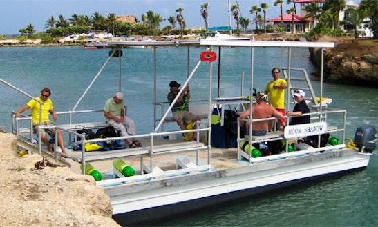 Scuba Dive Boat In Kralendijk