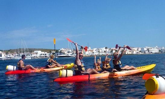 Kayaking Charter In Fornells Menorca, Balearic Island