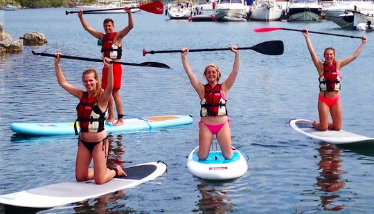 Stand Up Paddleboard Charter In Fornells Menorca, Balearic Island