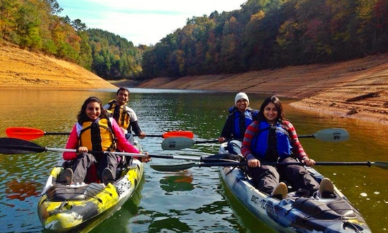 Paddle Boat, Kayak & Pontoon Charters In Bryson City