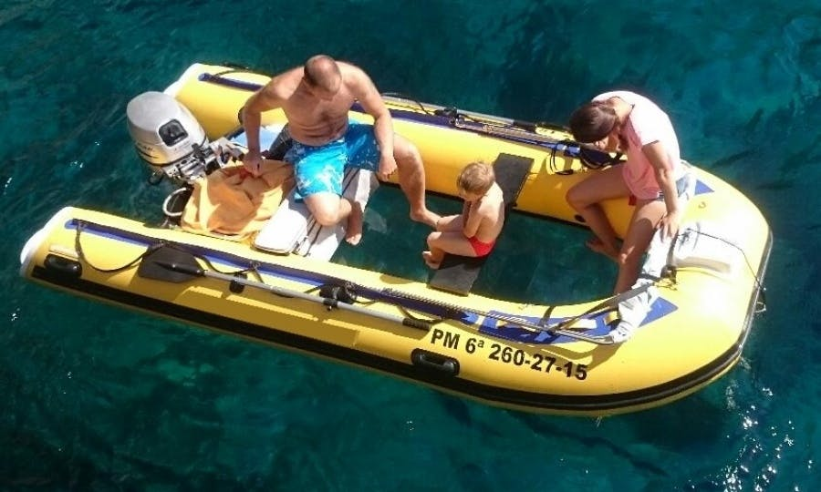 Glass Bottom Boat for Rent without Licence in Alcúdia, Soller, Andraxit
