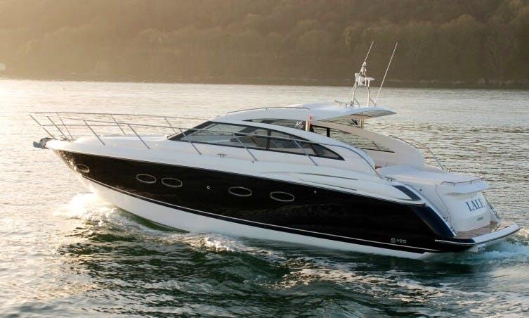 Cuddy Cabin ''Princess V42'' Charter in Spain
